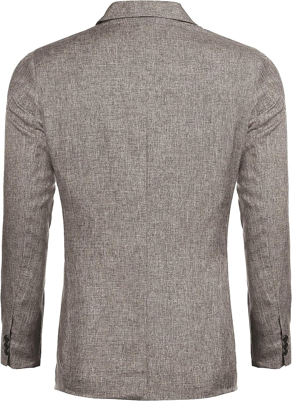 JINIDU/Mens/Casual/Sports/Coats/One/Button Smart Slim Fit Suit Blazer Jacket