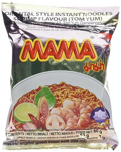 Fideos instantáneos Mama, camarones Tom Yum, paquete de 30 (30 x 60 g