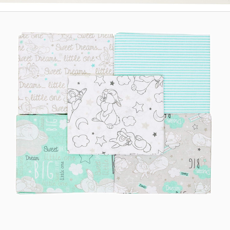 Disney Fat Quarters Bundle 15 dise/ños surtidos Cuadros de tela de algod/ón patchwork Bambi Dumbo Winnie The Pooh