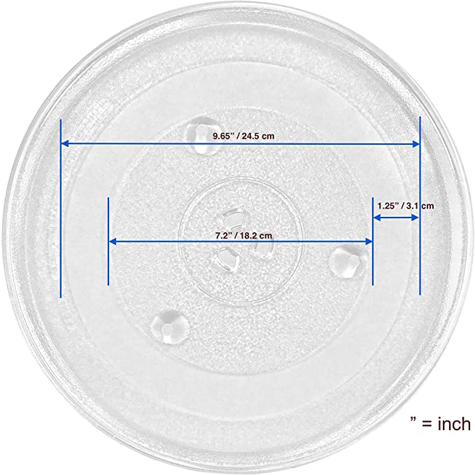 """12.4"""" Microwave Oven Turntable Replacement Part   12.4 Inch Micro Wave Glass Plate Replacement Kit   31.5 cm Round Rotating Ring Dish Tray   315 mm ..."""