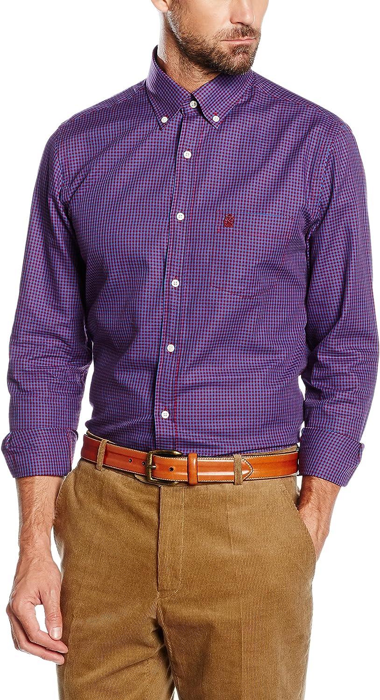Cortefiel Camisa Hombre Twill Vichy Color T-BD Morado S: Amazon.es: Ropa y accesorios