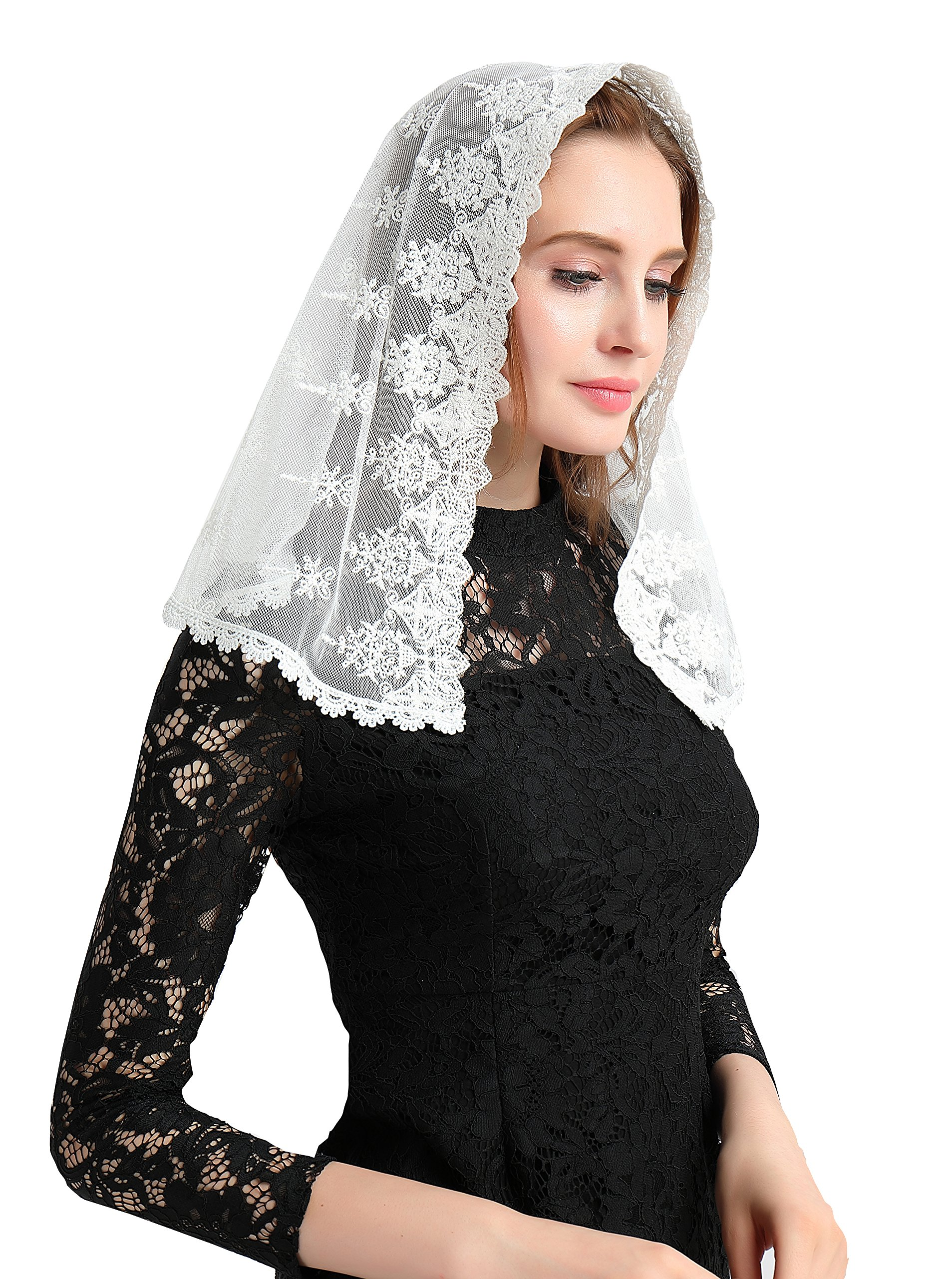 Vintage Veil Church Mantilla Lace Chapel Veil Vintage Mantilla V02 (Style One)