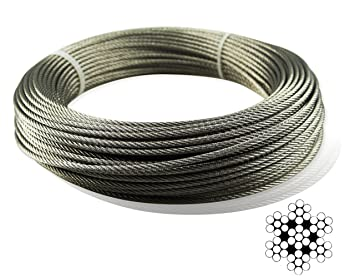 Muzata Stainless Aircraft Steel Wire Rope Cable For Railing ...