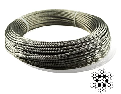 Muzata Stainless Aircraft Steel Wire Rope Cable For Railing, Decking ...