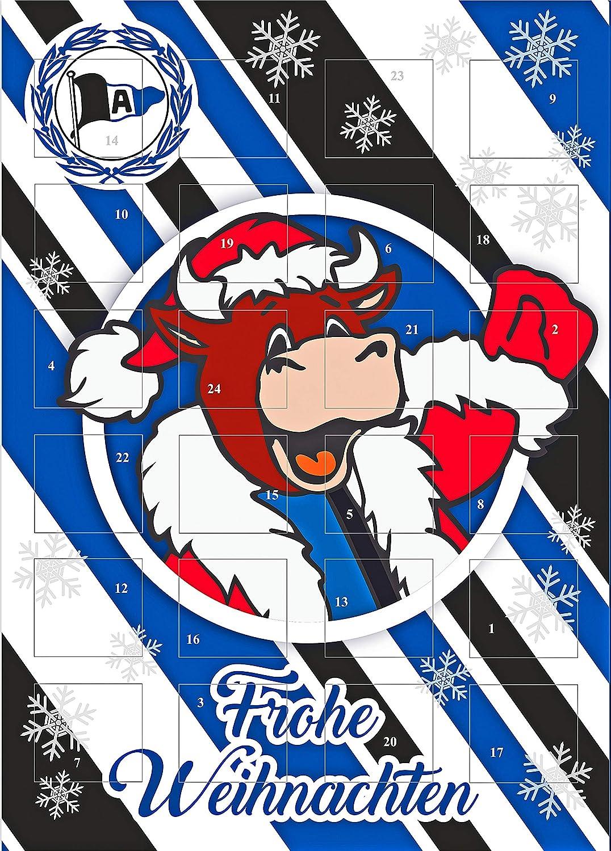 Adventskalender mit Milchschokolade ARMINIA BIELEFELD (120 Gramm / 35 x 25 x 1, 5 cm) Limited Fan Edition FanShop Sweets