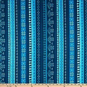 RJR Blue Belle Favorite Fringe Metallic Denim Quilt Fabric By The Yard