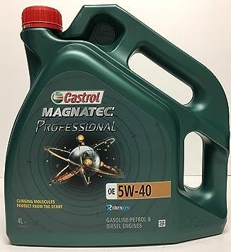 Aceite Motor Lubricante - Castrol Magnatec Professional OE 5W-40, 4 litros: Amazon.es: Coche y moto