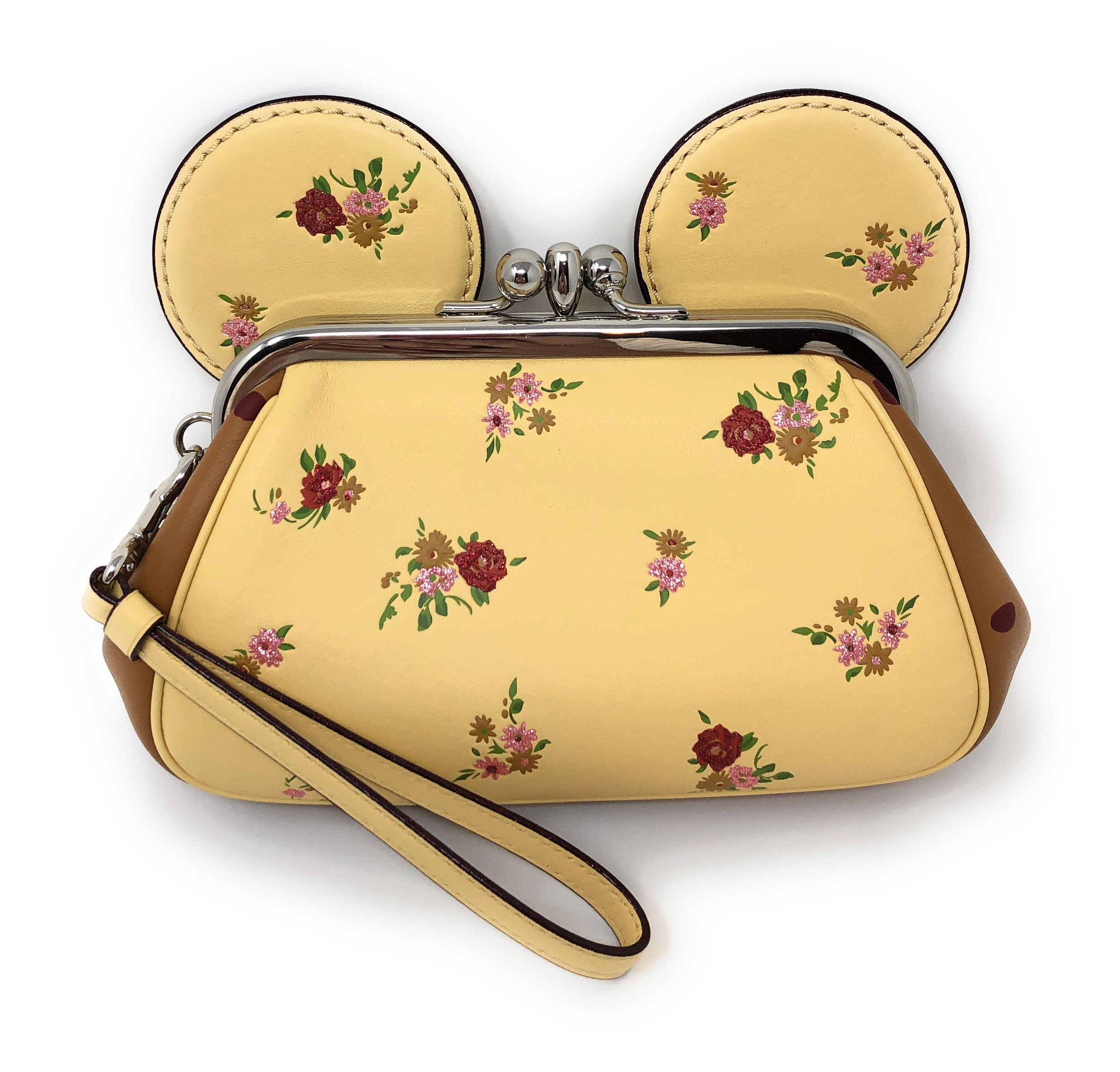 Coach X Disney Minnie Mouse Kisslock Floral Printed Wristlet Handbag Buy Online In Kuwait Shoes Products In Kuwait See Prices Reviews And Free Delivery Over Kd 20 000 Desertcart