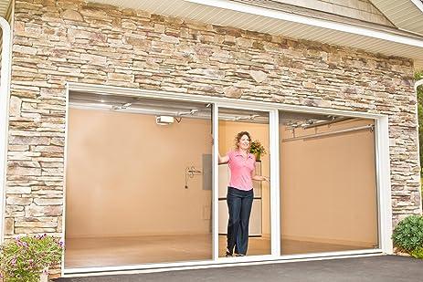 lifestyle screens garage door screen 7h white privacy superscreen models white 10 - Screen For Garage Door