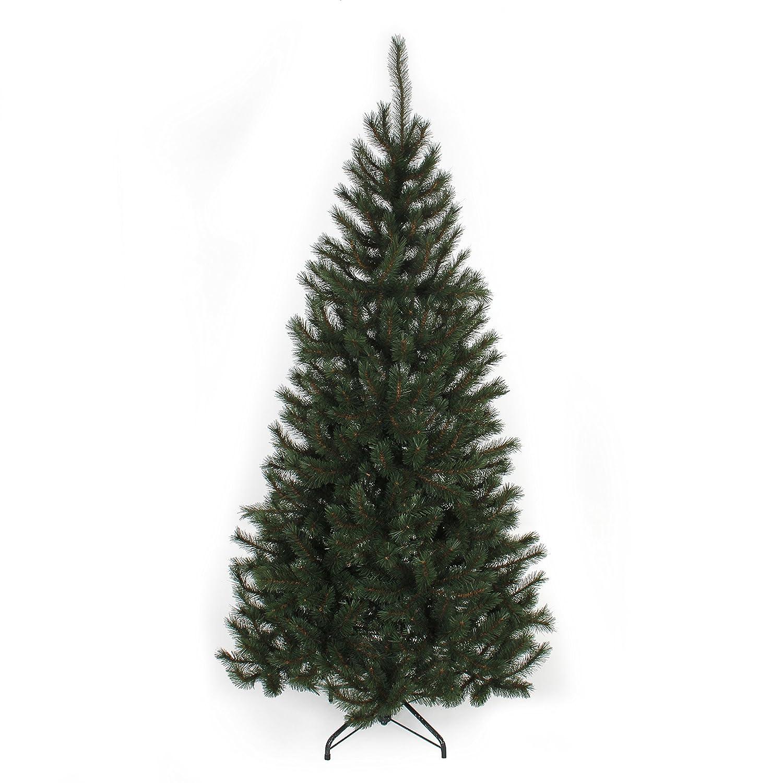 Schwarz Box Trees Künstlicher Weihnachtsbaum, Kunststoff, Grün, 2.15 m
