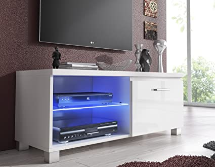 Home Innovation- TV mobile LED - porta TV, bianco mate e bianco ...