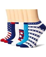 K. Bell Women's 6 Pack Novelty No Show Socks