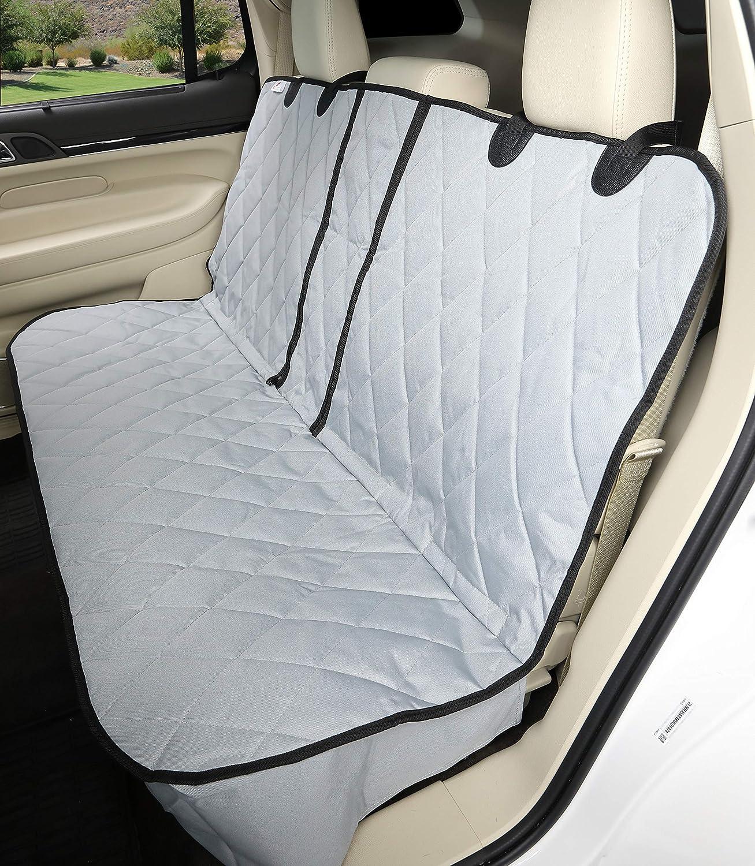 4Knines Fitted Split Rear Seat Waterproof Non-Slip Cover, Lifetime Warranty (Regular, Grey)