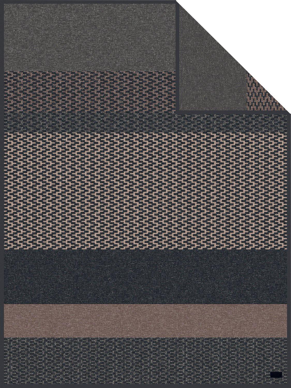 Ibena Wohndecke grau braun Größe 150x200 cm