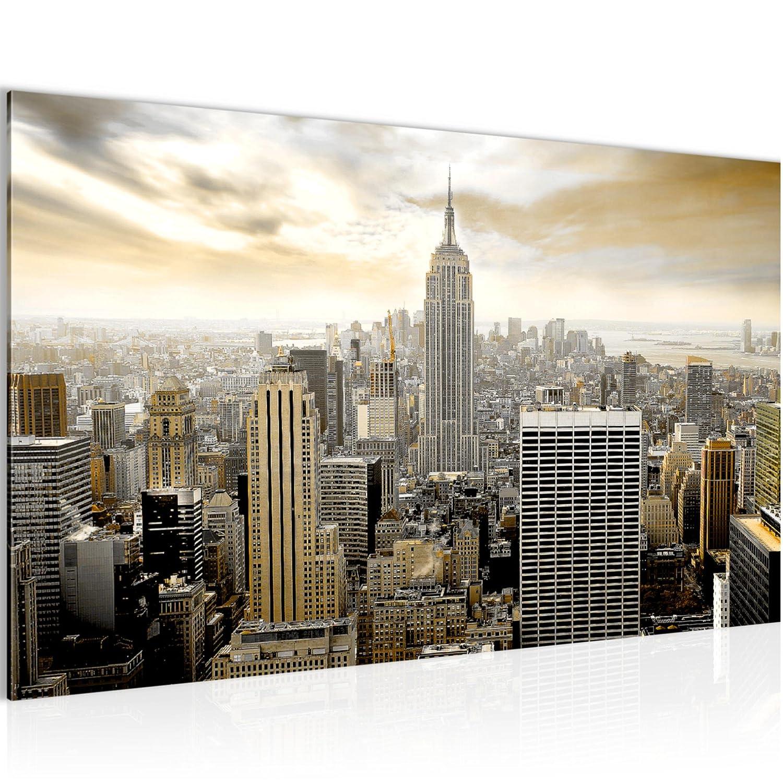 Made IN Germany Runa Art Bilder New York City Wandbild Vlies Fertig zum Aufh/ängen 603412a Leinwand Bild XXL Format Wandbilder Wohnzimmer Wohnung Deko Kunstdrucke Braun 1 Teilig