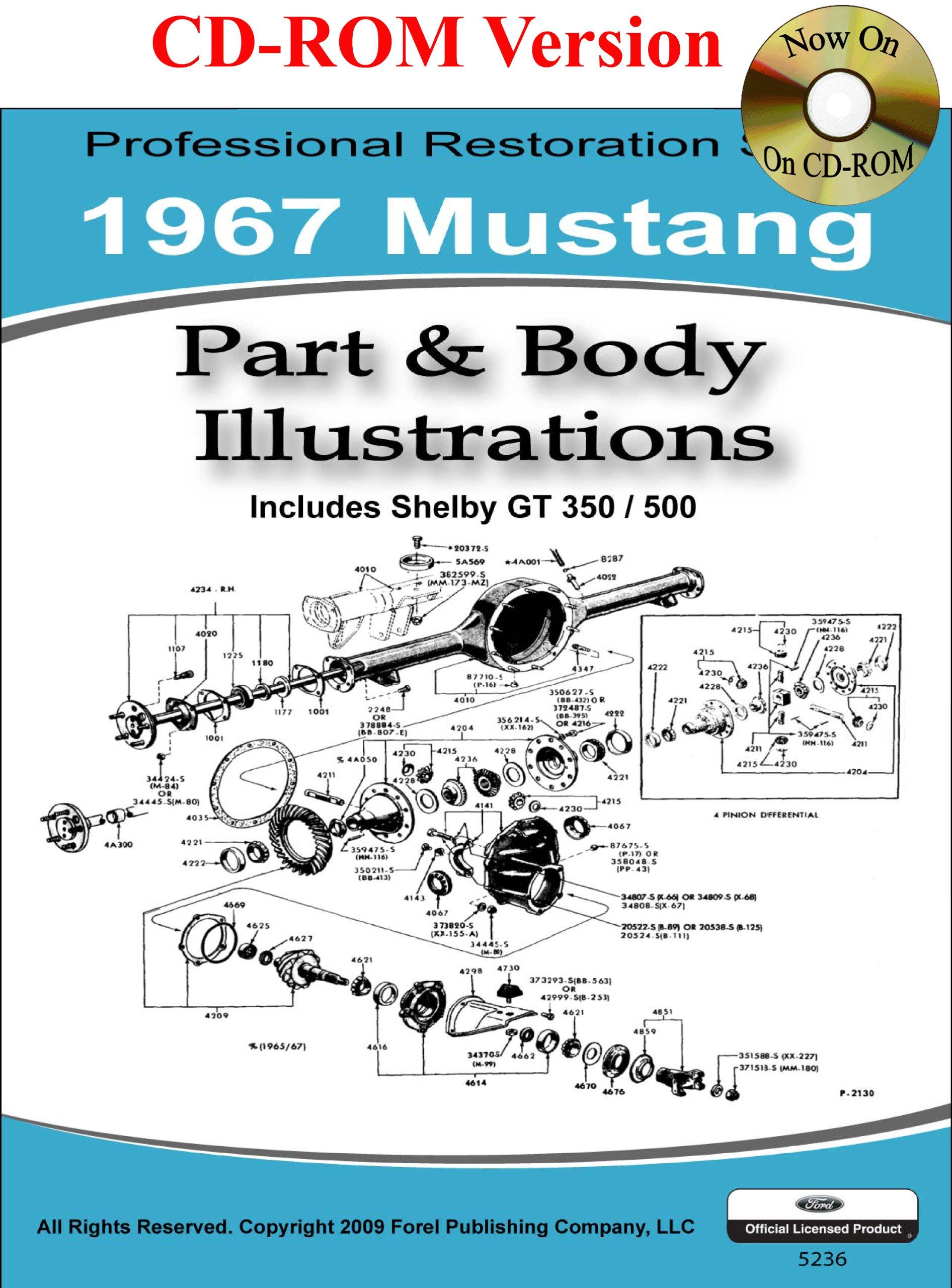 1967 Mustang Part And Body Illustrations Ford Motor Company David Xh Wiring Diagram E Leblanc 9781603710350 Books
