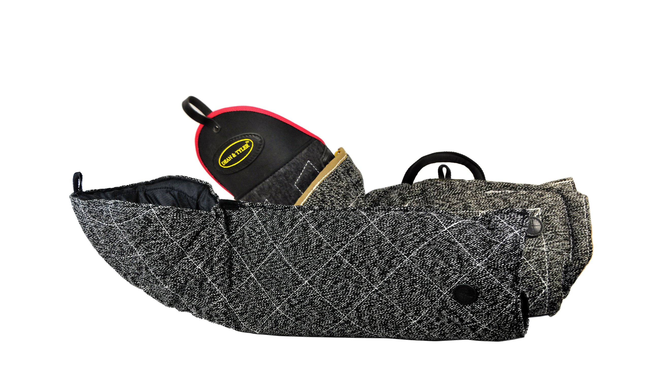 Dean & Tyler 2-Piece Pro Bundle Set, Includes Bite Sleeve With French Linen Cover/Full Arm Bite Sleeve for Training Intermediate Dogs Jute by Dean & Tyler