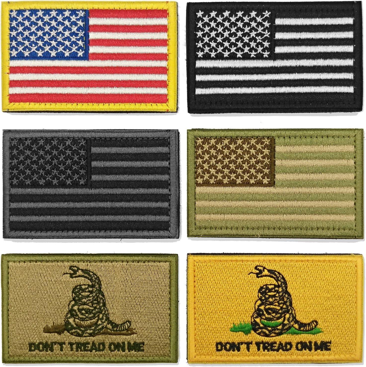 WZT Bundle 6 piezas La bandera americana táctico militar moral parche Set: Amazon.es: Juguetes y juegos