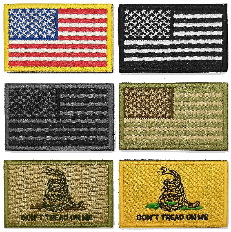 WZT Bundle 6 pieces american flag Tactical Military Morale Patch Set 4337019039