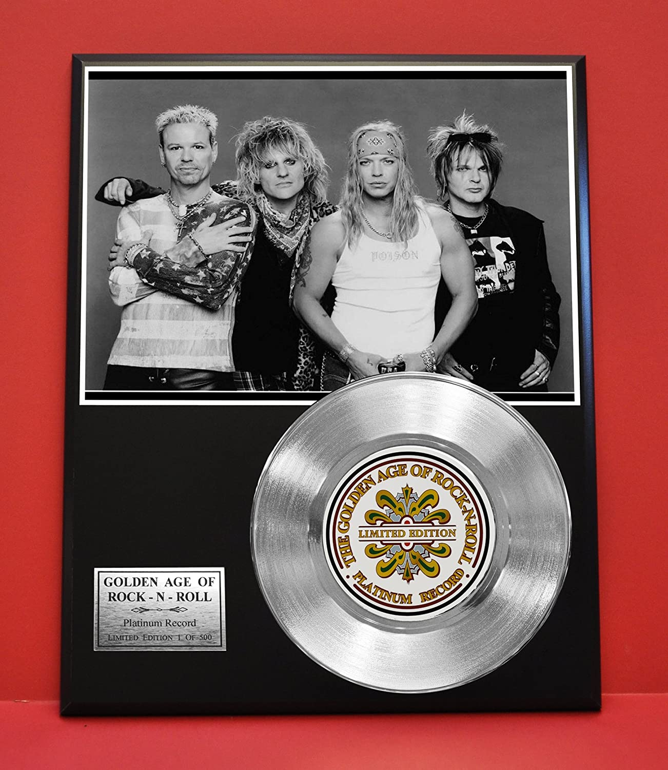 Poison LTD Edition Platinum Record Display - Award Quality Music Memorabilia Wall Art - Gold Record Outlet