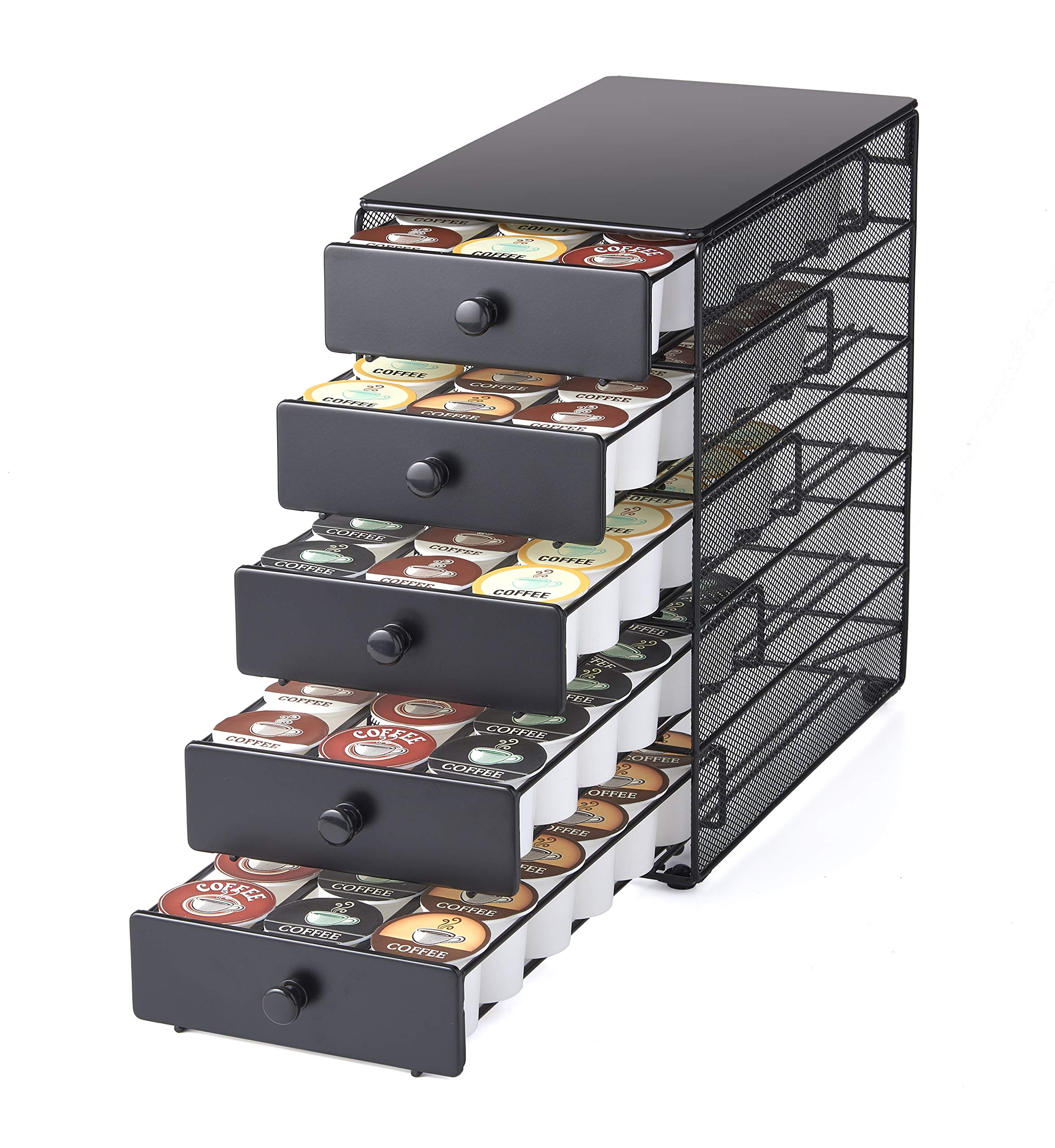 NIFTY Solutions 90 K-Cup Capacity 5-Tier Coffee Pod Storage Drawer, Satin Black by NIFTY