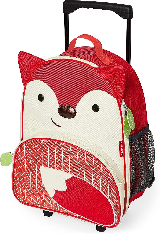 Skip Hop Zoo Luggage - Maleta con ruedas para niños, con etiqueta de nombre, Multicolor (Fuchs Ferguson)
