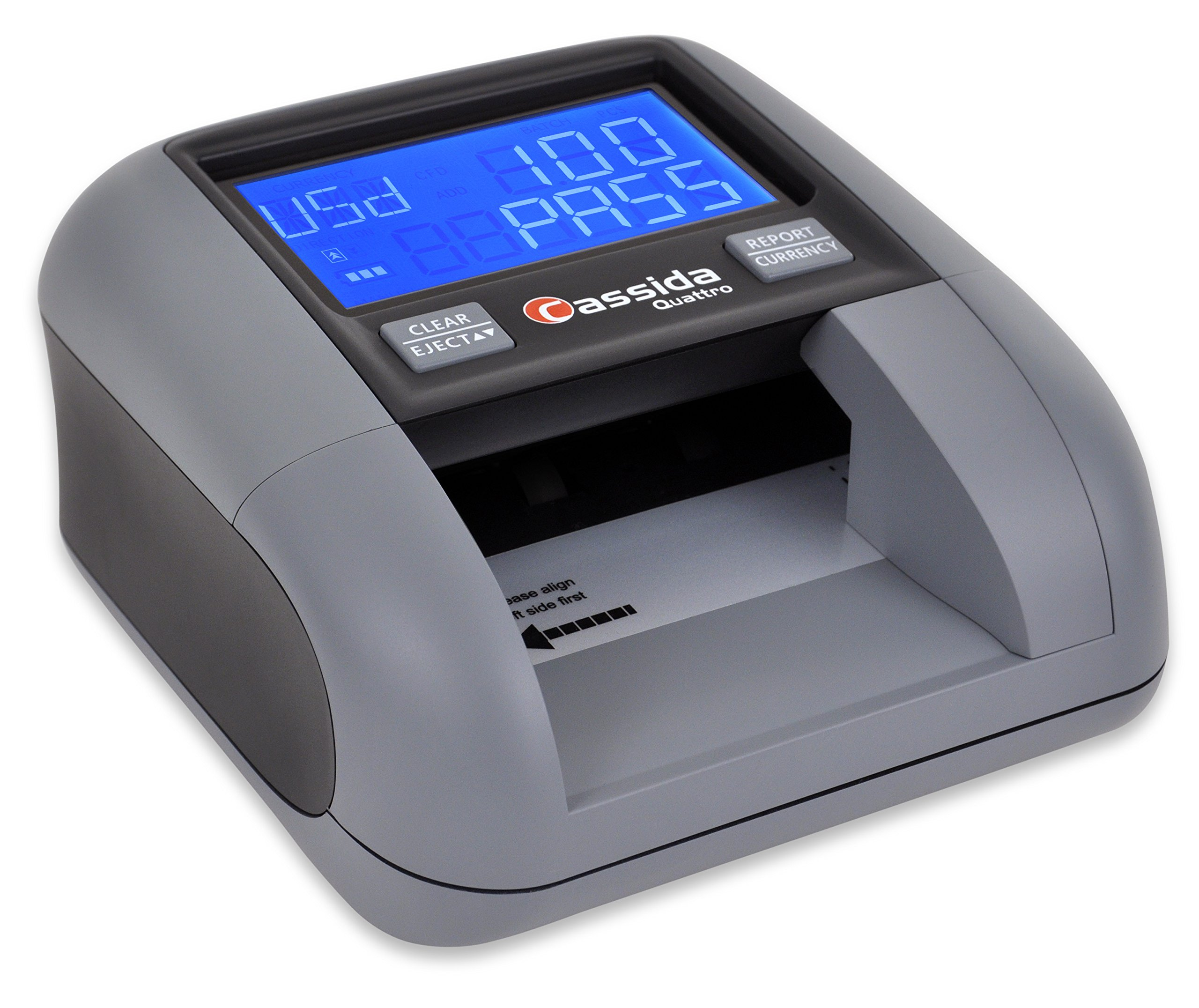 Cassida All-Orientation Automatic Counterfeit Detector with Rechargeable Battery, 3.5'' (Quattro) by Cassida
