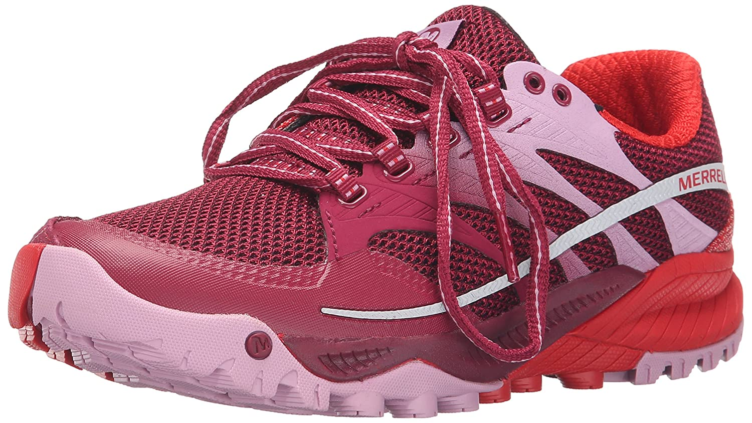 Merrell Women's All Out Charge Trail Running Shoe B00YBE7P5O 5.5 B(M) US|Bright Red