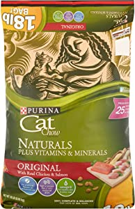 Purina Cat Chow Naturals Original Dry Cat Food (18 lb. Bag)