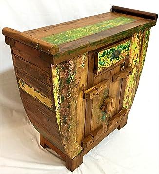 PurEtnic Mueble Buffet Entrada Vintage Madera de Teca Reciclado decoración étnico aparador dispensa de TV: Amazon.es: Juguetes y juegos