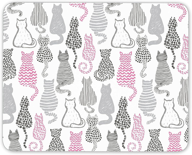 Bastante gatos alfombrilla de ratón (gatos madre hermana hija Cool ordenador de regalo regalo # 8191