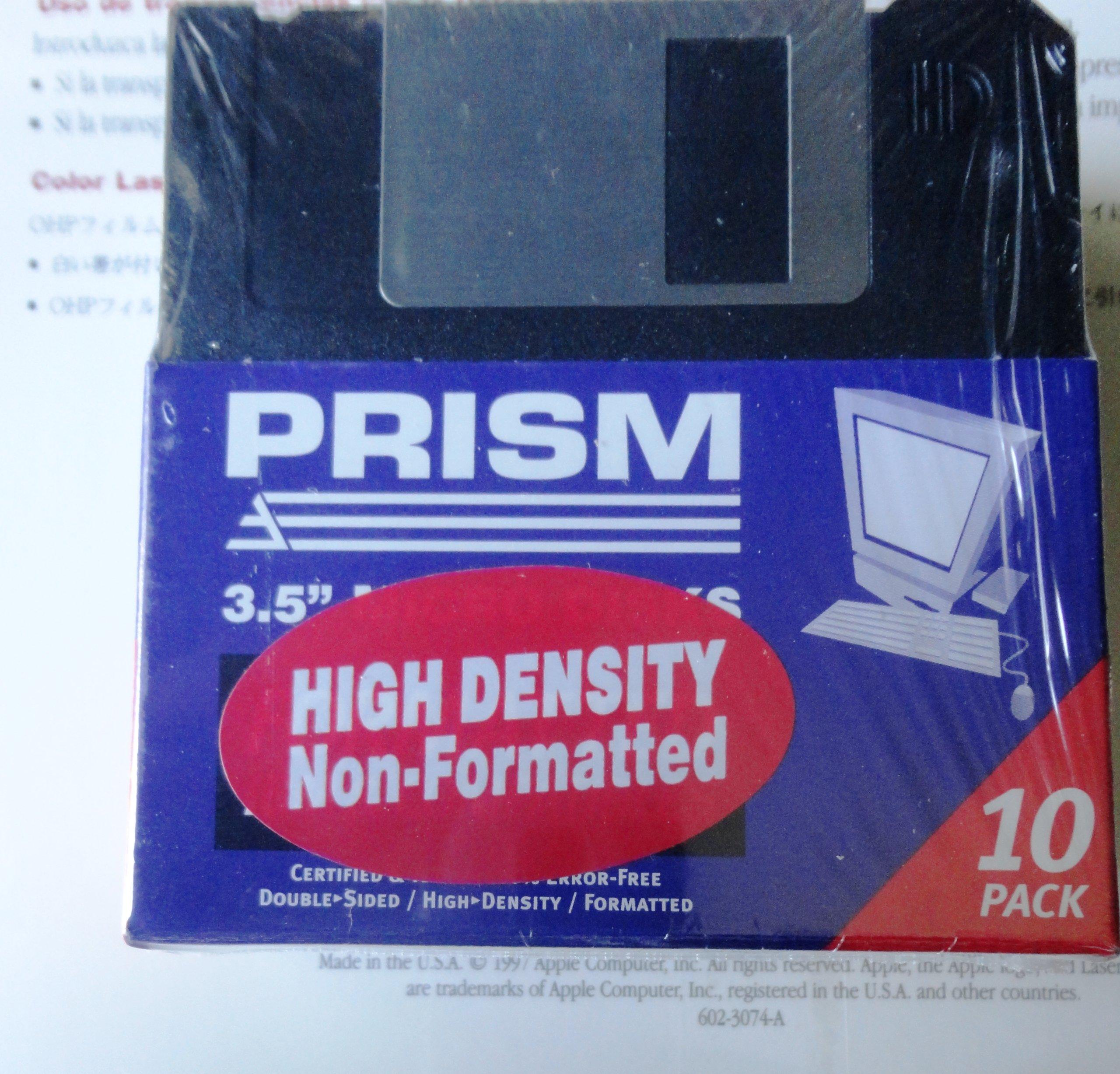 PRISM 3.5'' High Density Computer Floppy Disk
