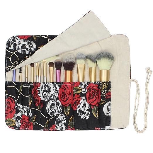 Amazon.com: Estuche organizador de 12 bolsillos para brochas ...