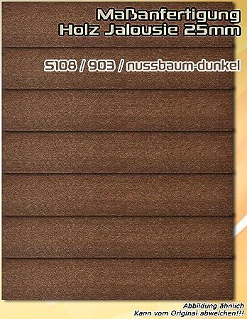 Extrem Holz Jalousie 110 x 190 cm (Breite x Höhe) - Farbe S108 / 903 EP22