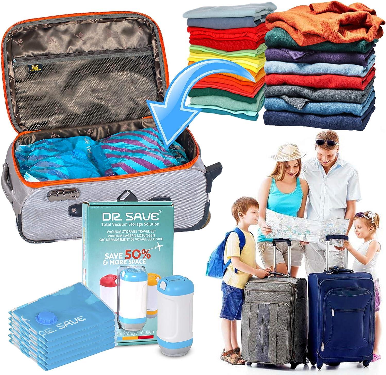 Dr Kompressen mit Einer elektrischen Pumpe platzsparender Reisetaschen Packen Sie mehr in Ihren Koffer mit luftdichter Save Vakuumbeutel mit Versiegelungsger/ät