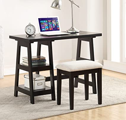 Stupendous Amazon Com Major Q Pxf4635 Black Finish Wooden Writing Desk Gmtry Best Dining Table And Chair Ideas Images Gmtryco