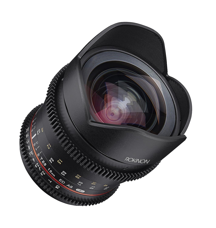Rokinon FFDS16M-MFT 広角シネレンズ 16-16mm f/2.6-22 プライム 固定 T2.6 フルフレーム マイクロフォーサーズ用 黒   B073VKY3H3