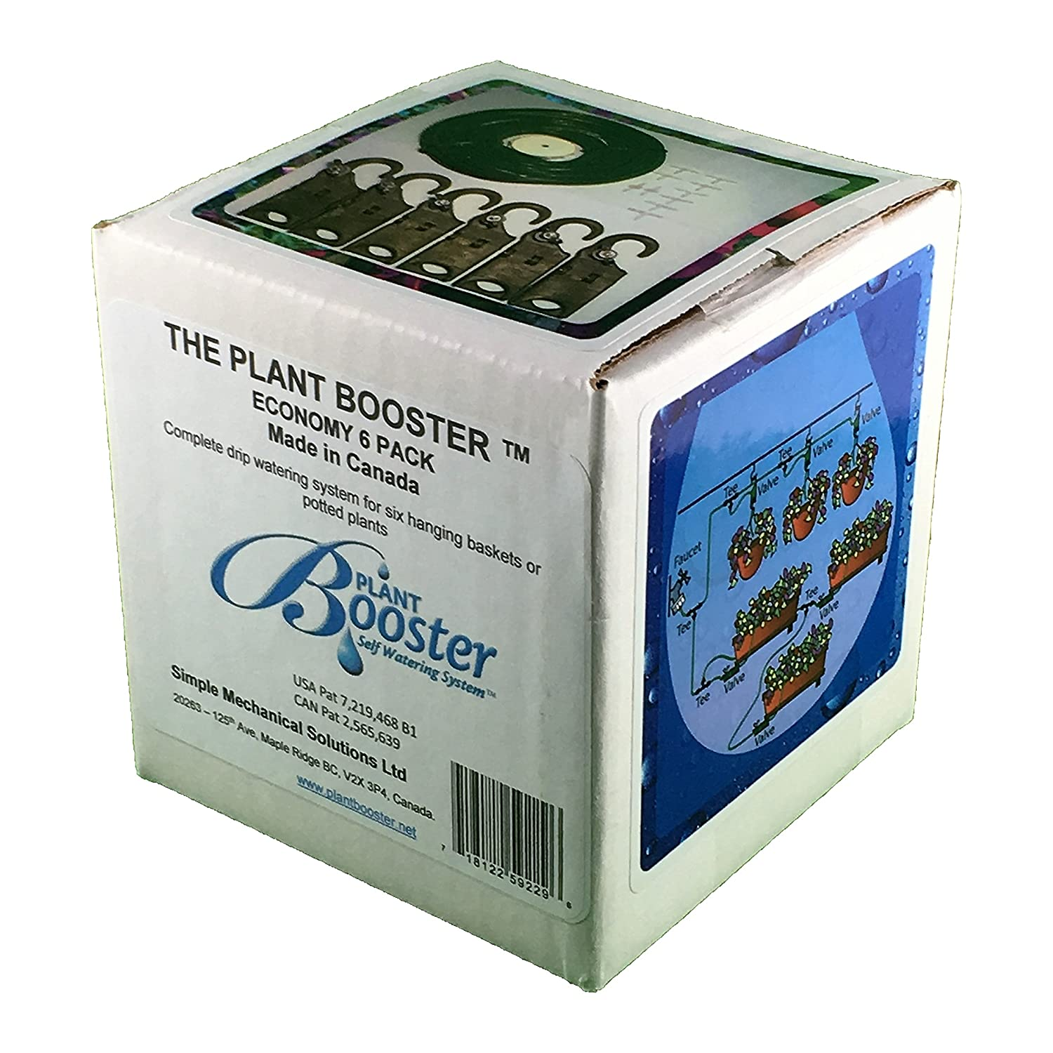 The Plant Booster Economy 6 Pack self-Watering System for 6 Hanging Baskets or planters