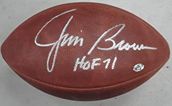 1ce4a6160 Jim Brown Hand Signed Autographed Football Cleveland Browns HOF 71 W ...