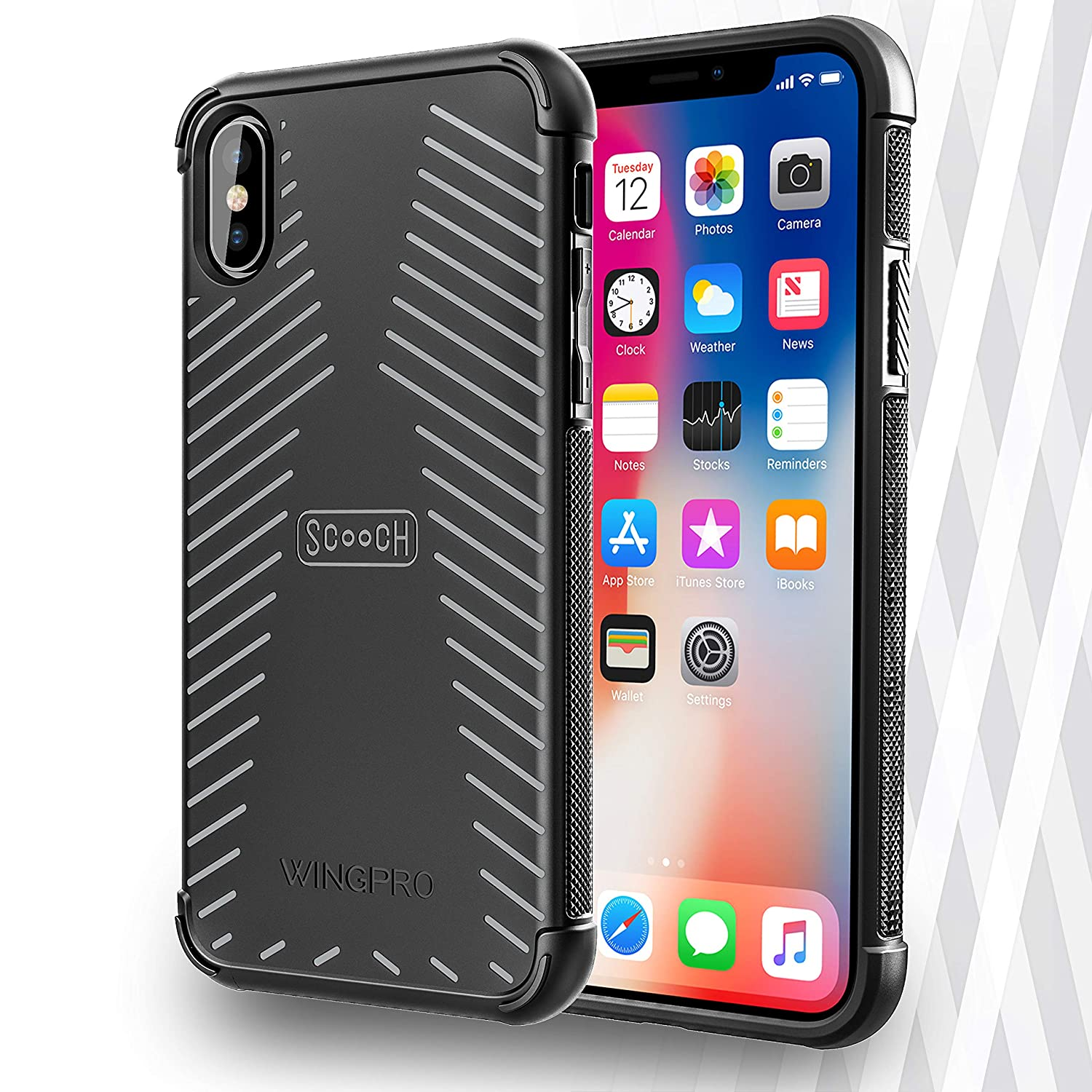 reputable site 6a5fb 317c1 Scooch Wingpro iPhone Xs Phone Case (Also fits iPhone X) (Stone)