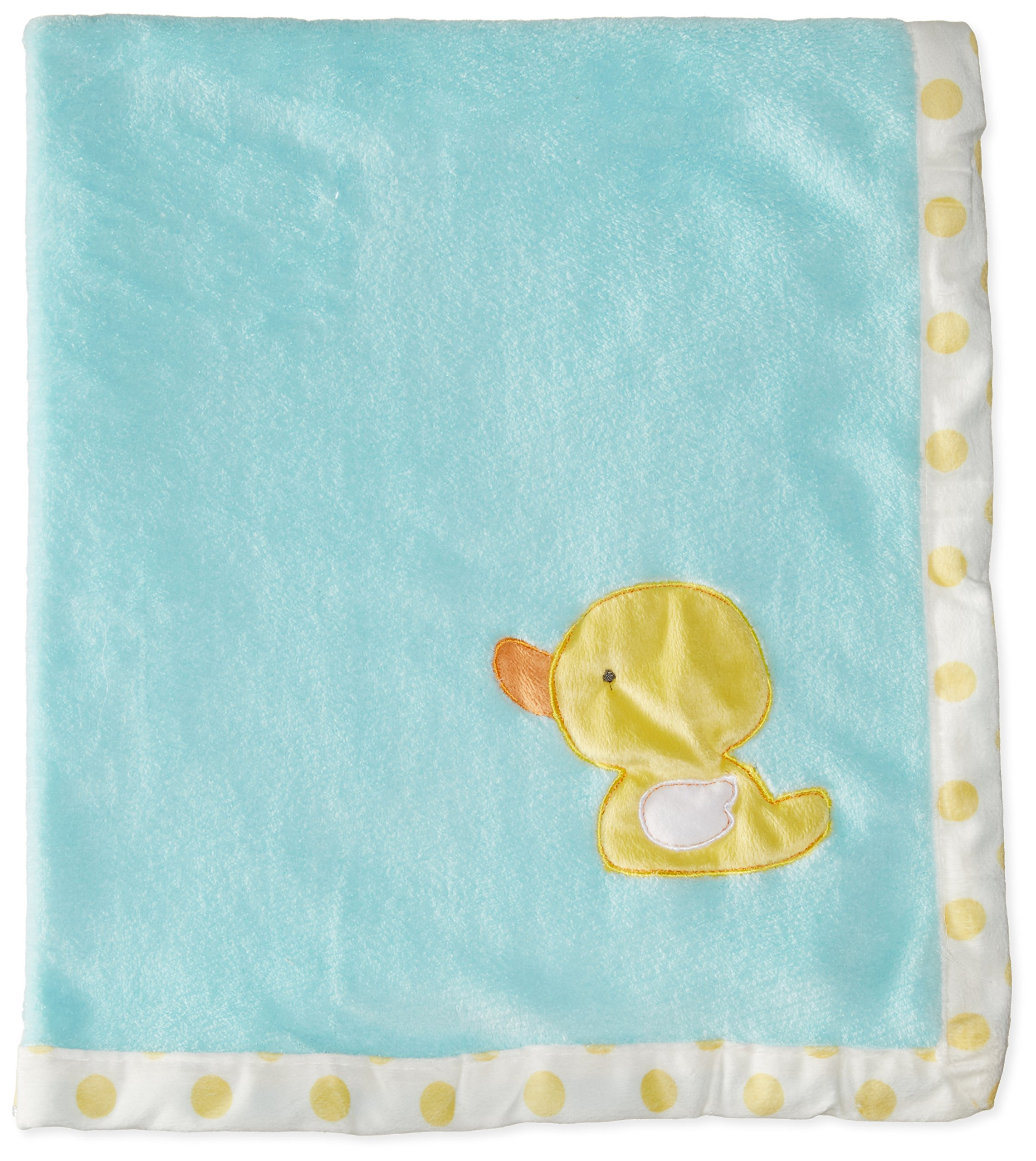BON BEBE Baby Newborn Ducky Plush Coral Fleece Blanket, Multi, New Born by Bon Bebe