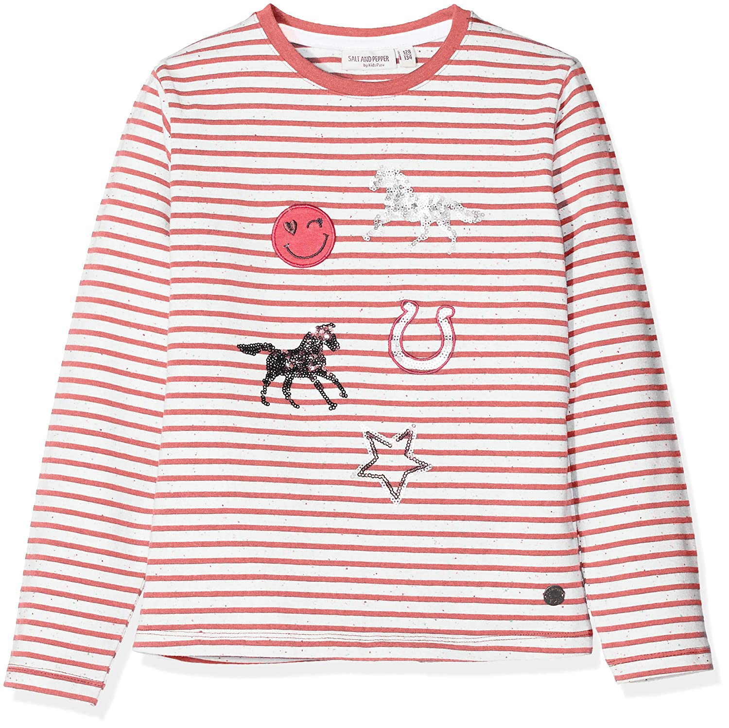 SALT AND PEPPER Mä dchen Langarmshirt Longsleeve Horses Ii Stripes 85111283