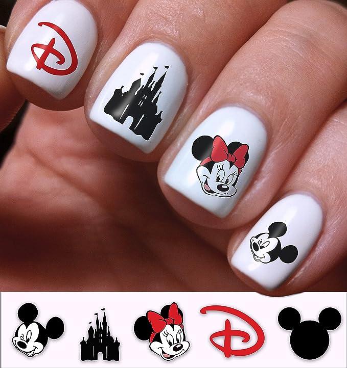 Uñas Pegatinas Arte calcomanías Set 3d bricolaje Mickey y Minnie ...