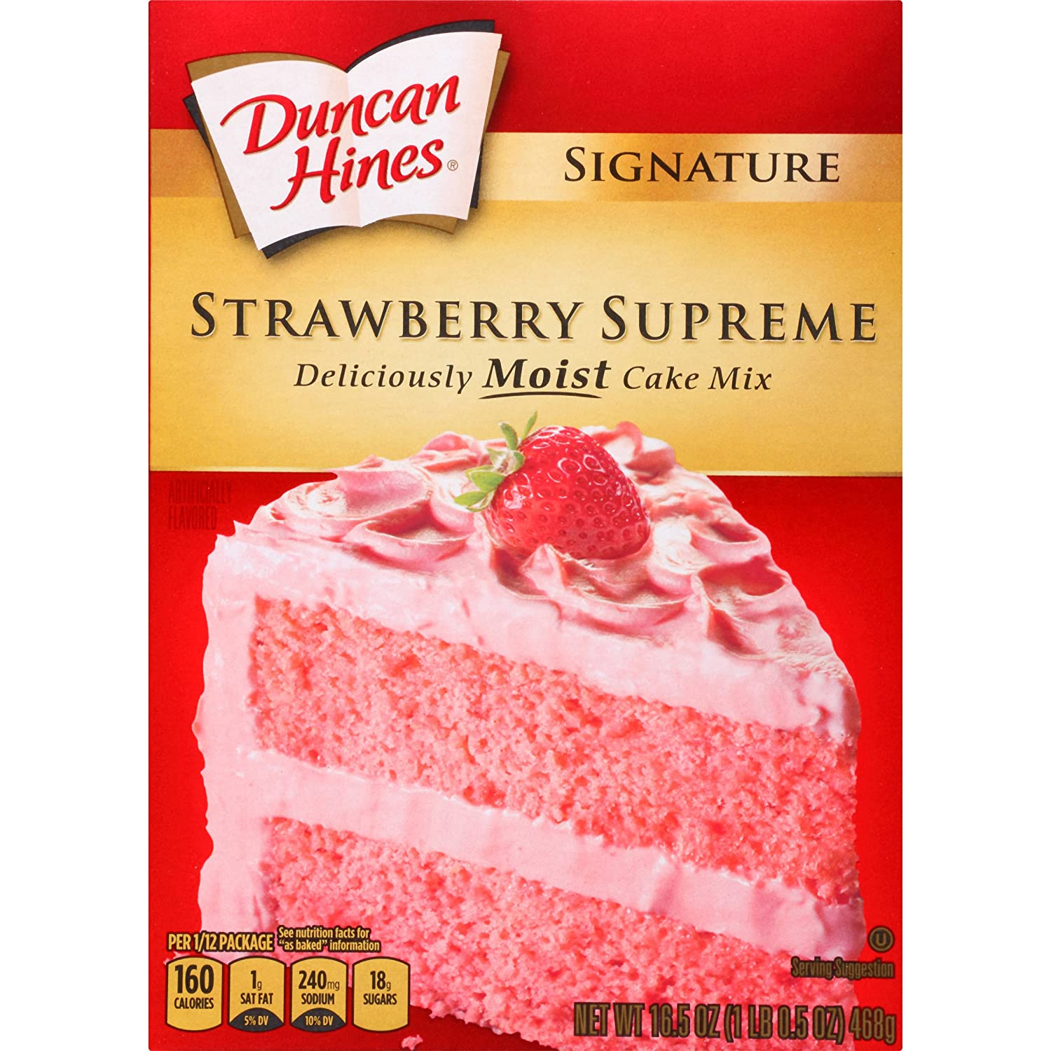 Amazon Duncan Hines Signature Cake Mix Strawberry Supreme 165 Oz Grocery Gourmet Food
