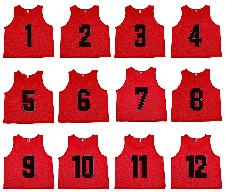 独特な Oso Athletics 12セットプレミアムポリエステルメッシュNumbered Scrimmage Vests Small|Red Pinnies PracticeジャージW - (#1-12)/ Carrying Bag for Children、ユース、&大人用チームスポーツサッカー、バスケットボール、サッカー B07C56JTGS Youth - Small|Red (#1-12) Red (#1-12) Youth - Small, 当麻町:2fefba11 --- svecha37.ru