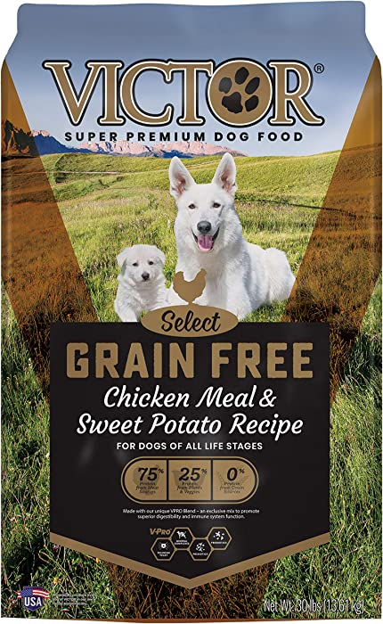 Victor Select - Grain Free Chicken Meal & Sweet Potato Recipe, Dry Dog Food