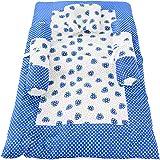 Baby Grow Toddler Mattress Basics Bedding Set Strawberry Printed (Blue)