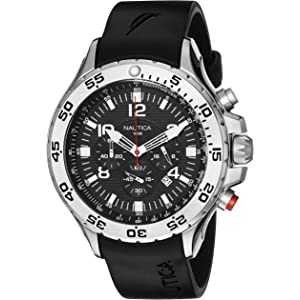 Nautica Mens Quartz Resin Silicone Watch