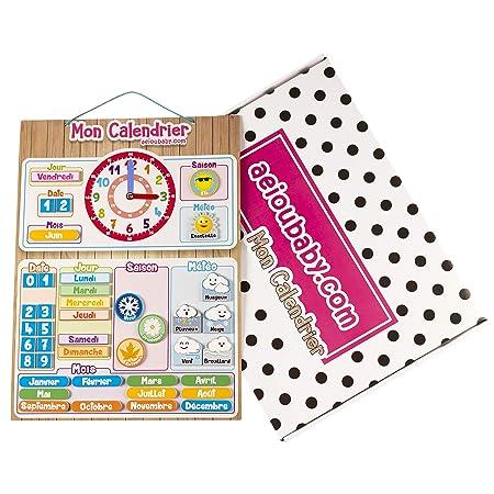 aeioubaby.com Calendario Reloj Magnético Infantil, Juego Educativo ...