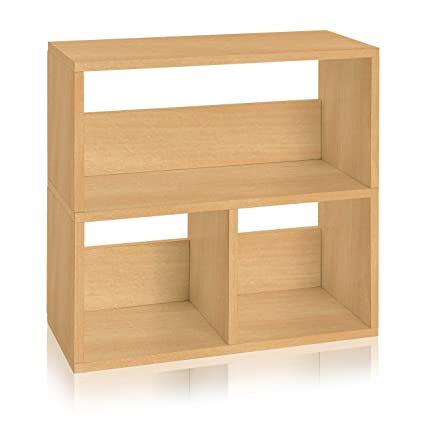 Way Basics Eco Friendly Collins Cubby Bookshelf And Organizer Natural Made From Sustainable Non